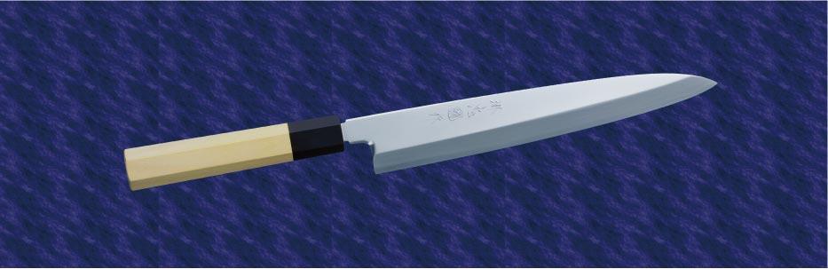 画像1: 柳出刃(銀三鋼) 300mm