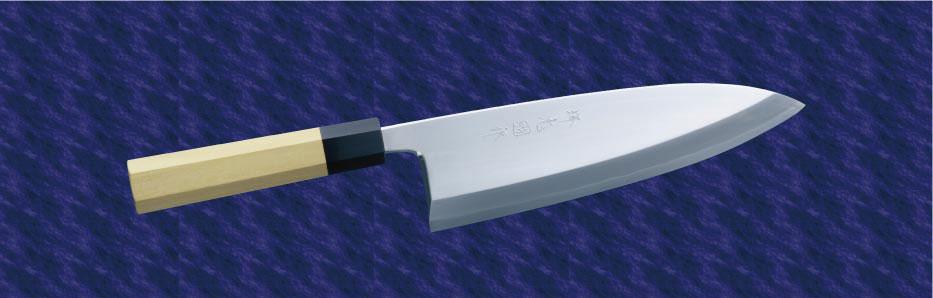 画像1: 本出刃(銀三鋼) 120mm