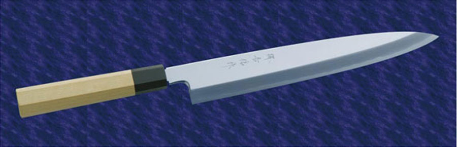 画像1: 柳出刃(白鋼) 240mm