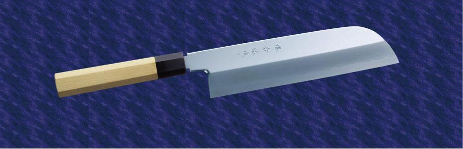 画像1: 鎌型薄刃(白鋼) 180mm